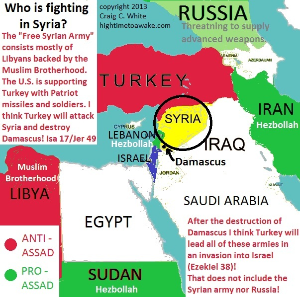 Who is fighting in Syria? - Map